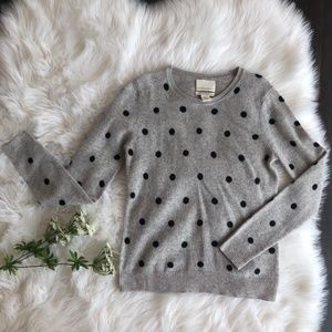 Cynthia Rowley 2 Ply 100 Cashmere Sweater Gray